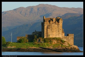 Ok, ok, not our real house, this is Eilean Donan but I would love to live in a castle.