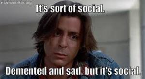 sad but social