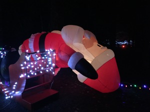 Drunk santa. Not something every child should see.