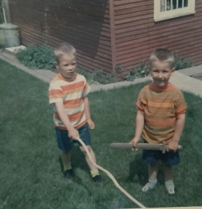 We didnt have TV. We had sticks.