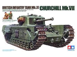 Tamiya Churchill VII tank with guys serving tea and biscuits. Yup. Tea and biscuits
