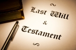 Last Will and testament document.