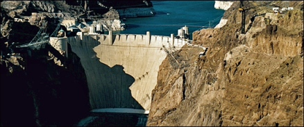The Hoover Dam. Completed in 1935.