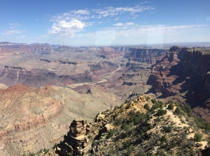 Green screen or the real thing? A bit of haze in the distance made the Grand Canyon look made-up