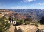 Just as I was about to take the perfect shot of the Grand Canyon, two people stand to admire the view. At least they gave scale.
