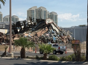 The ruins of a once great casino. The Riviera.