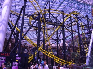 This is the terrifying El Loco roller coaster in the Adventure Dome. Old Circus Circus.