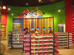 The Hershey Store in Vegas, with a freaking WALL of Jolly Ranchers