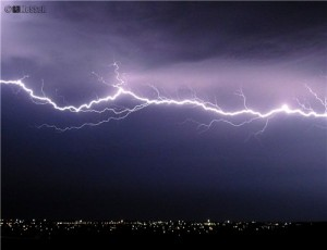 Sadly, not my picture of horizontal lightning, but this is what it looked like. Wow!