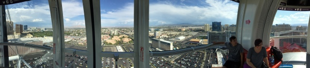 The view of Vegas from the High Roller.