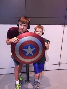 Captain America's shield. Made from impossabilium or Vibranium or something