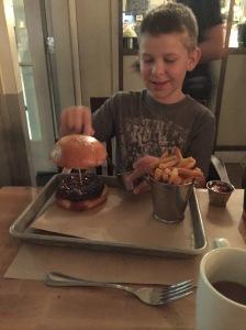 The best big burger ever at Mandalay Bay, Vegas.