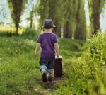 child leaving home