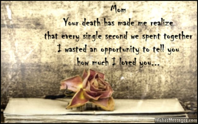 Sad Quote To Express Grief Of Losing A Mother To Death About A Stepdad